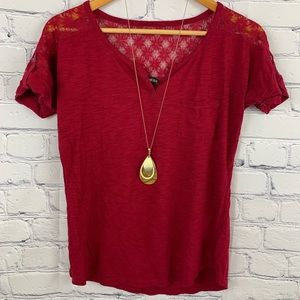 Express blouse size small red